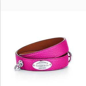 Tiffany &Co leather bracelet S/M